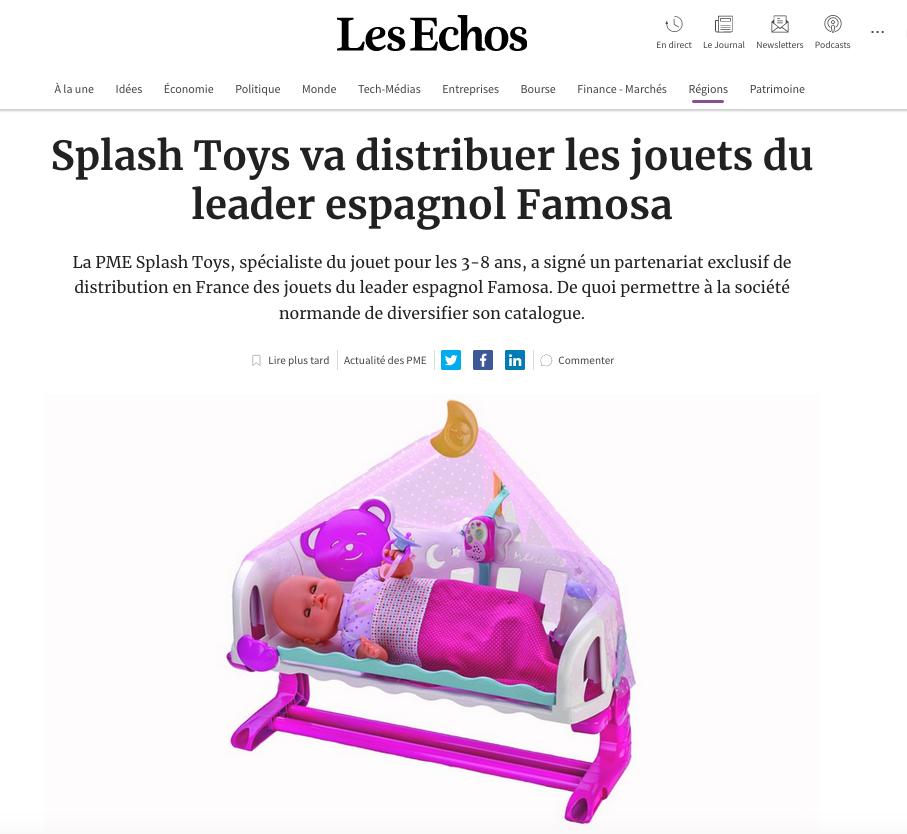 Les Echos - Splash Toys